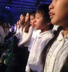 Children at the annual Peace Proms in Dublin