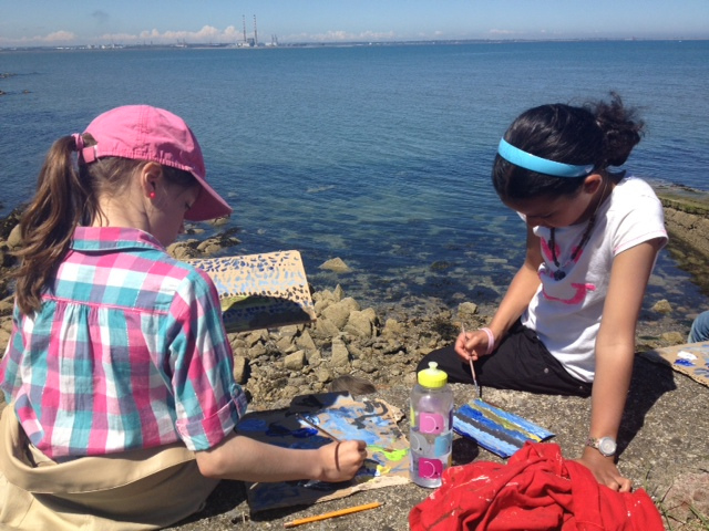 Seaside Landscape Painting