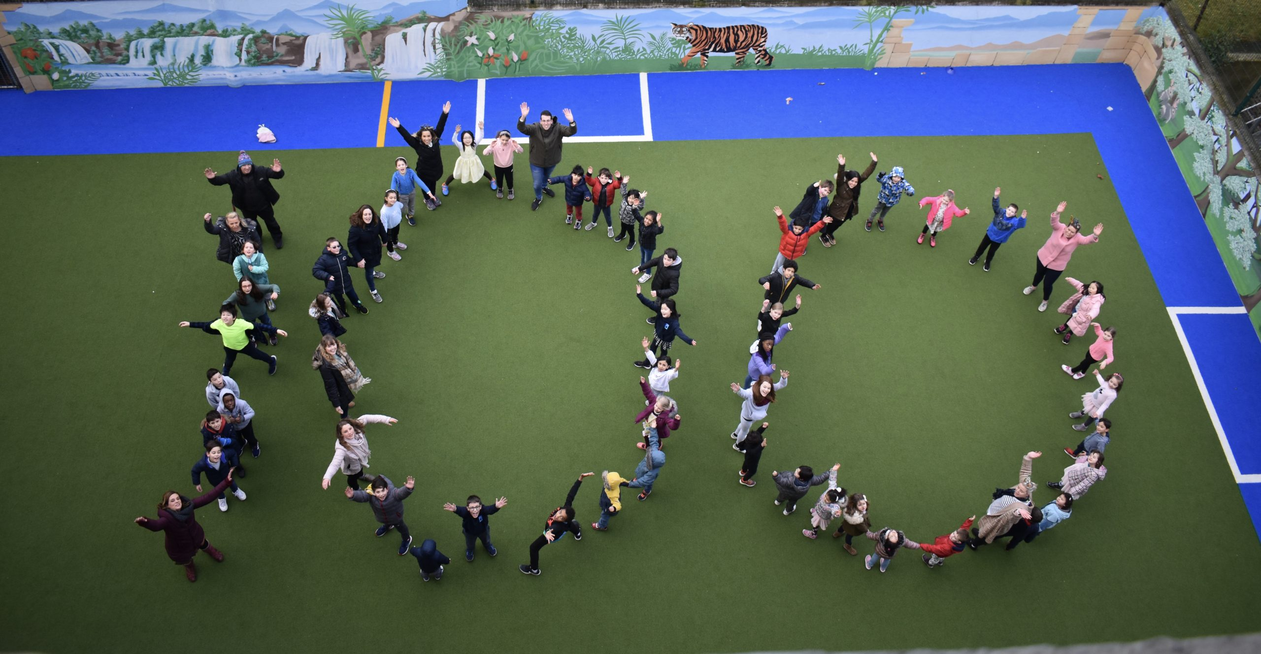 Teachers and Students Formed to Make 100